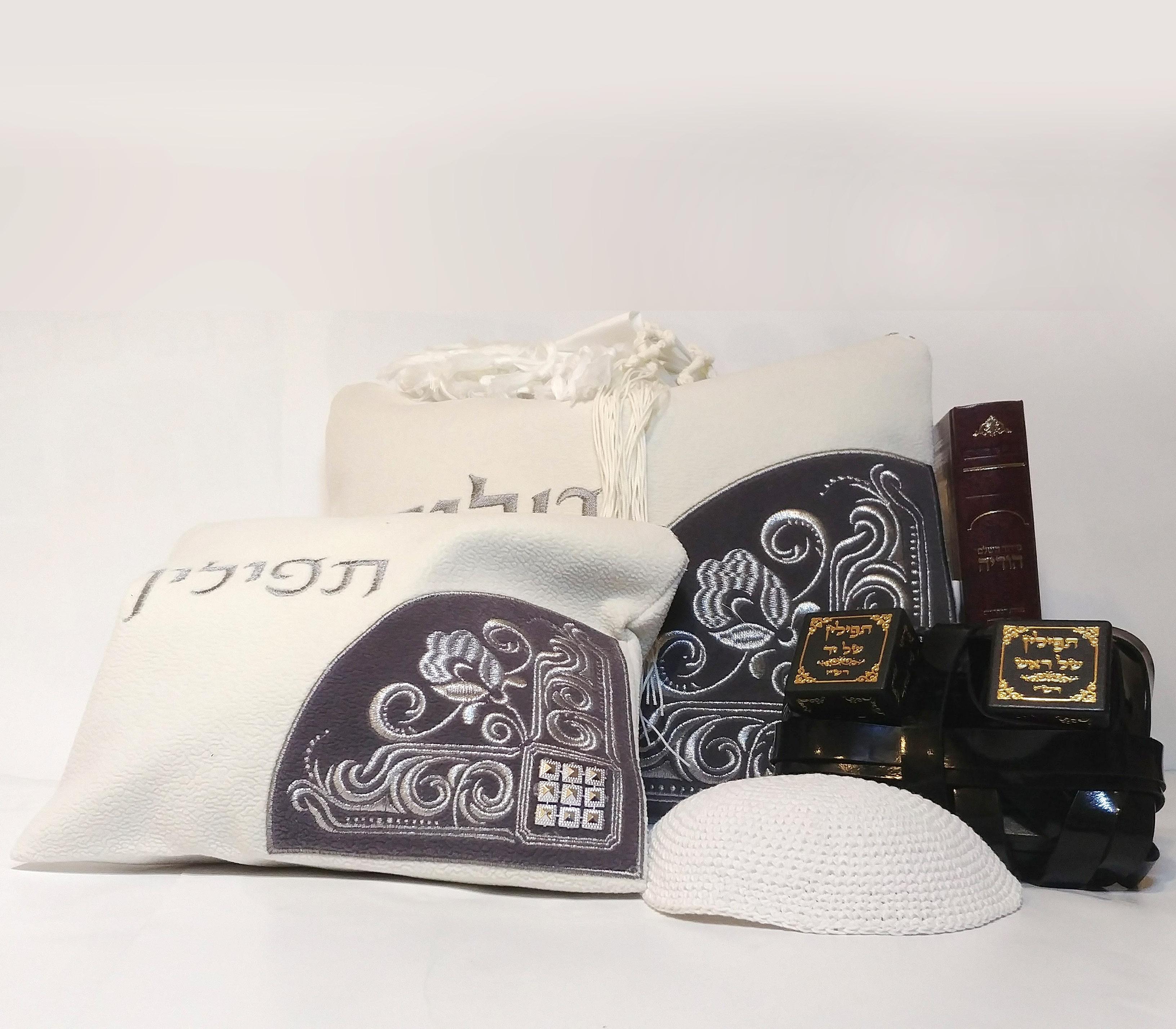 מותג חדש ערכת תפילין לבר מצווה- דגם שלהבתיה - קודש נט כל מה שיהודים צריכים QB-86
